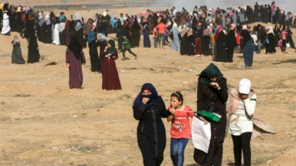 Gaza: des milliers de femmes manifestent près de la frontière israélienne