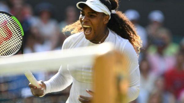 Wimbledon: Serena Williams en 8e en écartant Kristina Mladenovic