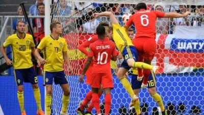 Mondial: l'Angleterre mène 1 à 0 contre la Suède à la pause