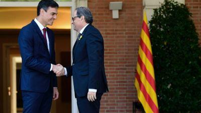 Catalogne: le dialogue reprend mais Torra reste inflexible sur l'indépendance