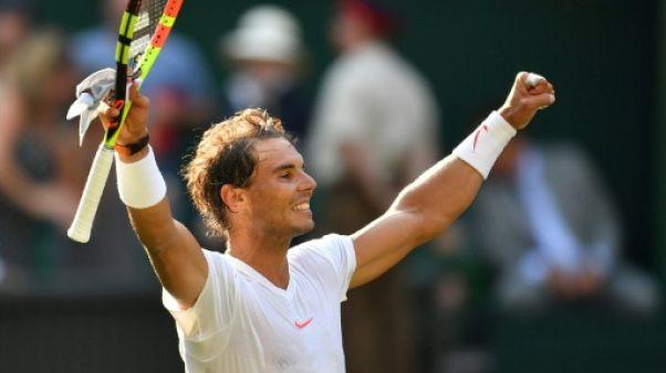 Wimbledon: Nadal en quarts de finale pour la première fois depuis 2011