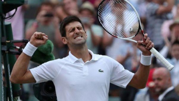 Wimbledon: Djokovic rallie les quarts en écartant Khachanov