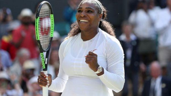 Wimbledon: Serena Williams à deux victoires de réussir son grand pari