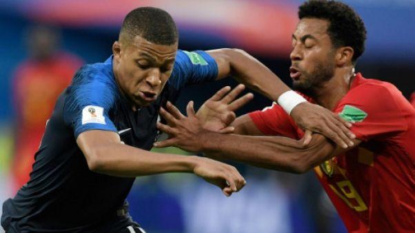 Mondial: France et Belgique, 0 à 0 à la pause