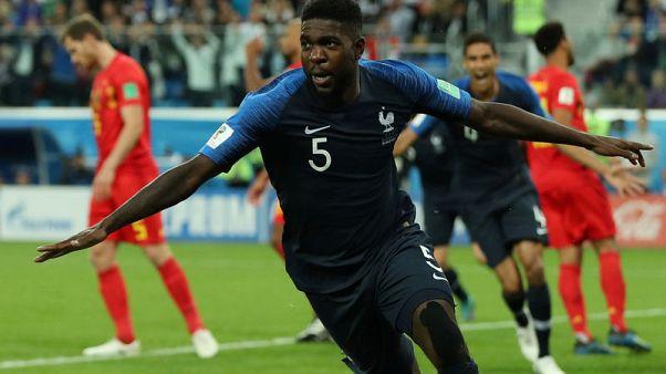 رأسية أومتيتي ترسل فرنسا لنهائي كأس العالم