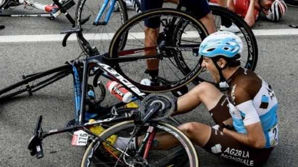 Tour de France: Domont blessé à une clavicule