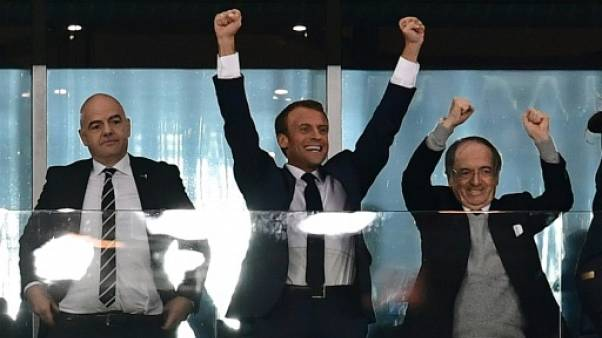 Mondial: Emmanuel Macron à la finale à Moscou
