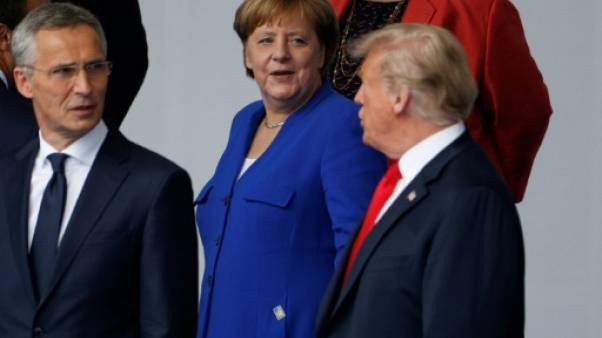 "Otan : Trump assure avoir de ""très bonnes relations"" avec Merkel"