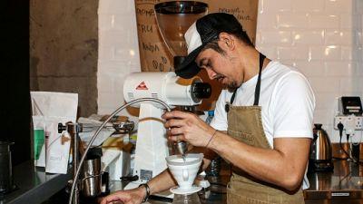 """Les cafés """"hipster"""" au Qatar, un goût de nouveauté"""