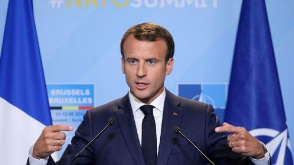 """L'Otan """"sort beaucoup plus fort"""" de son sommet pour Macron"""
