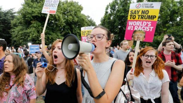 Manifestation à Londres contre la visite de Trump