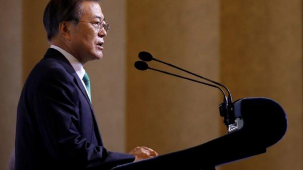 South Korea's Moon urges North, U.S. to move forward on ending nuclear programme