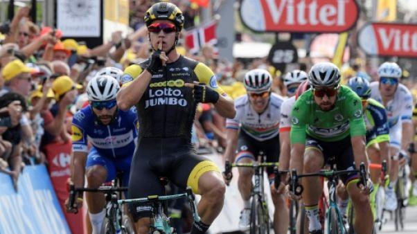 Tour de France: Groenewegen bat Gaviria, Van Avermaet reste en jaune