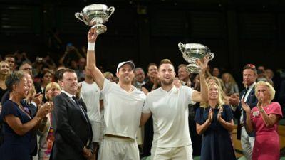 Wimbledon: les Américains Mike Bryan et Jack Sock sacrés en double