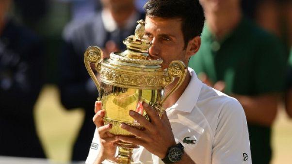 Tennis: Djokovic s'offre un quatrième titre à Wimbledon en dominant Anderson