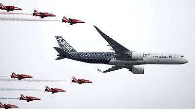 Jetmakers see brisk start to air show as UK tries to soothe Brexit worries