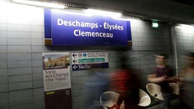 """""""Deschamps Elysées"""": le métro parisien célèbre la victoire de la France"""