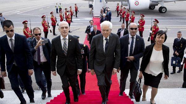 Mattarella arrivato a Tbilisi in Georgia
