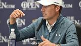 Spieth drags game out of 'wet concrete' for Open defence