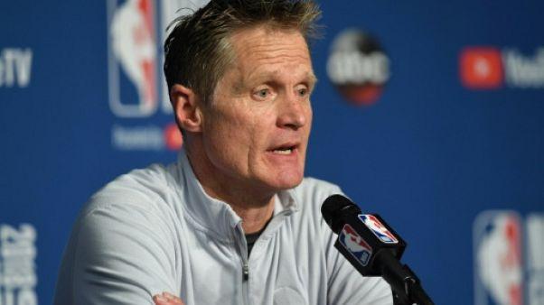 NBA: les Warriors prolongent le contrat de leur entraîneur Steve Kerr