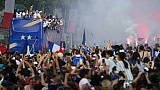 La parade des Bleus sur les Champs Elysées le 16 juillet 2018