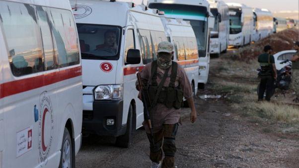 الإخبارية السورية: إجلاء المدنيين عن بلدتي كفريا والفوعة