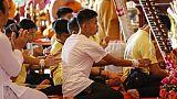 Thaïlande: les enfants de la grotte au temple après leur sortie de l'hôpital