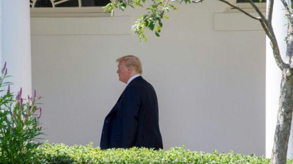 Le président américain Donald Trump à la Maison Blanche, le 18 juillet 2018