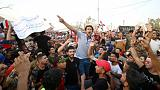 Iraqi protesters call for downfall of politicians