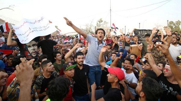 مقتل عراقي في احتجاج عند فرع لمنظمة بدر