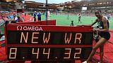 Ligue de diamant à Monaco: la Kényane Beatrice Chepkoech bat le record du monde du 3000 m steeple