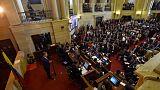 رئيس كولومبيا يحث على السلام مع تبوء أعضاء فارك مقاعدهم في الكونجرس