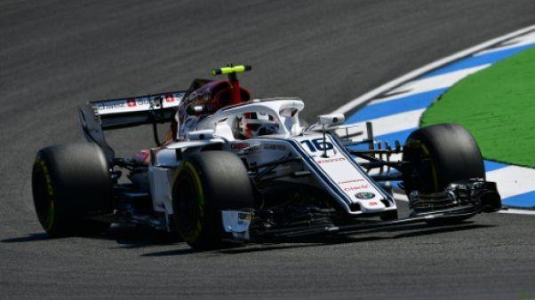GP d'Allemagne: Leclerc (Sauber) le plus rapide sous la pluie lors des essais libres 3