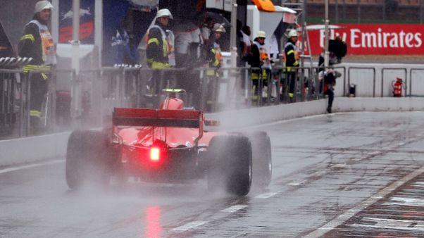 الأمطار تنهمر خلال التجارب الحرة الأخيرة بسباق ألمانيا