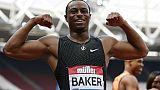 Ligue de diamant à Londres: Baker maitre du 100 m, Lavillenie 2e