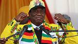 Zimbabwe's president courts white voters ahead of election
