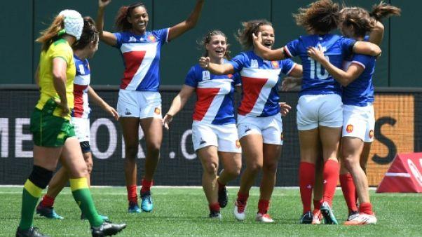 Coupe du monde de rugby à VII: finalistes, les Françaises écrivent leur histoire