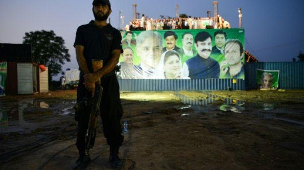Un policier pakistanais le 19 juillet 2018 à Pindi Gheb
