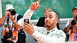 """GP d'Allemagne: """"Un des plus grand succès de ma carrière"""", dit Hamilton"""