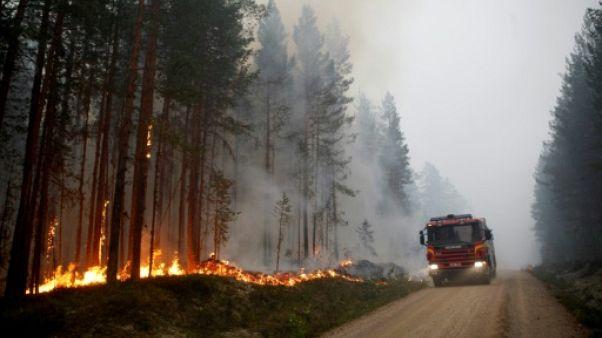 Incendies de forêt à Karbole, le 15 juillet 2018 en Suède