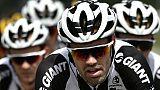 Tom Dumoulin, le 21 juillet, sur le Tour de France