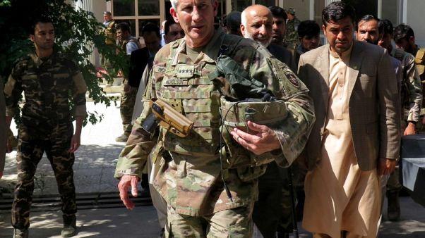 U.S. commanders say Afghan strategy boosting peace hopes