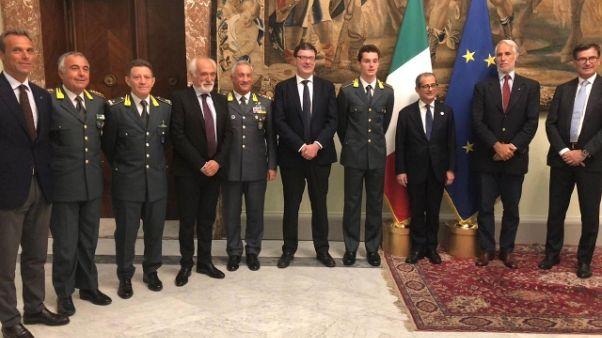 Atletica: Tortu premiato a Palazzo Chigi