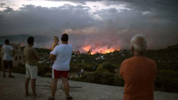 Incendies en Grèce: au moins 50 morts, dont 26 dans la cour d'une villa