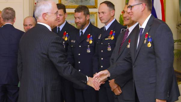 Australia honours bravery of divers involved in Thai cave rescue