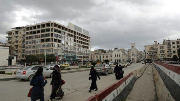Une rue de Hama, le 13 mars 2017 en Syrie