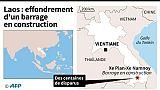 Laos: effondrement d'un barrage