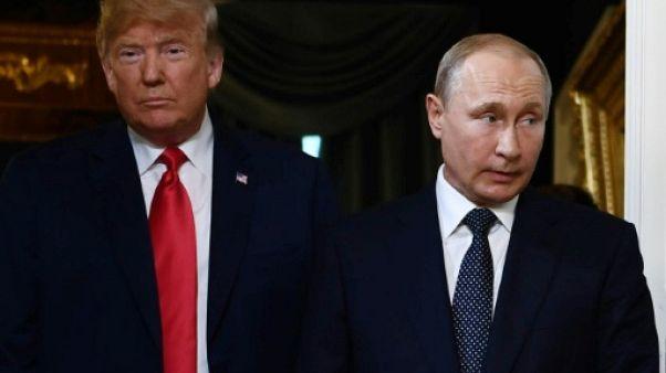 """Poutine et Trump vont poursuivre leurs contacts """"utiles"""" annonce le Kremlin"""