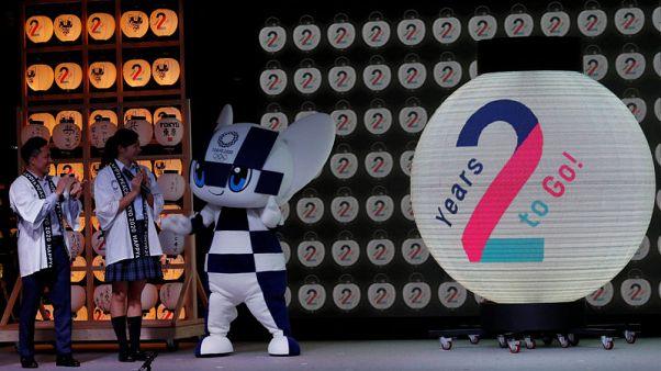 Landmarks illuminated as Tokyo celebrates two years until Olympics