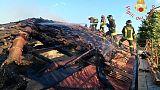 Incendio in stazione Fs paese Calabria